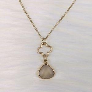 Goldtone Quatrefoil Necklace
